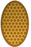 rug #910445 | oval light-orange rug