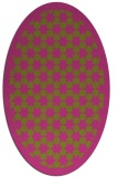 rug #910461 | oval light-green borders rug