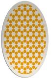 rug #910469   oval light-orange borders rug