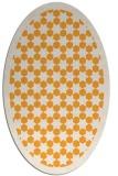 rug #910481 | oval white borders rug