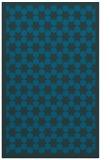 rug #910553 |  blue-green geometry rug