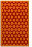 rug #910737 |  orange geometry rug