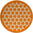 rug #910845 | round orange borders rug