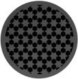 rug #910853 | round black borders rug