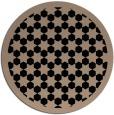 rug #910857 | round black borders rug
