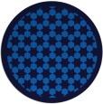 rug #910877 | round blue rug