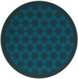 rug #910913 | round blue-green geometry rug