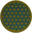 rug #910925 | round blue-green borders rug