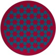rug #910969 | round blue-green geometry rug
