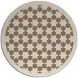 rug #910997 | round beige borders rug