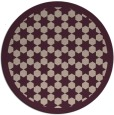 rug #911005 | round pink borders rug