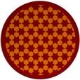rug #911045   round orange borders rug