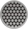 rug #911057   round red-orange geometry rug
