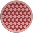rug #911069 | round pink borders rug