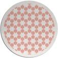 rug #911073 | round pink borders rug