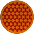 rug #911097 | round red borders rug
