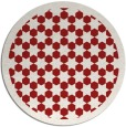 rug #911101 | round red borders rug