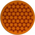 rug #911109 | round red-orange borders rug