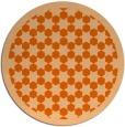 rug #911113   round red-orange geometry rug
