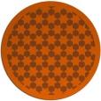 rug #911117 | round red-orange borders rug