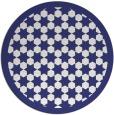 rug #911133 | round blue borders rug
