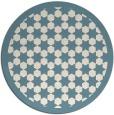 rug #911141   round blue-green borders rug