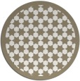 rug #911145 | round white borders rug
