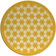 rug #911149 | round yellow borders rug