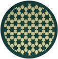 rug #911169 | round yellow borders rug