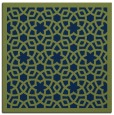 rug #911609 | square blue borders rug