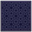 rug #911653 | square blue-violet borders rug