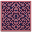 rug #911661 | square pink borders rug