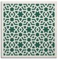 rug #911701 | square blue-green borders rug