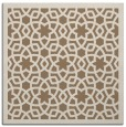 rug #911717 | square mid-brown borders rug