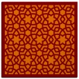 rug #911765 | square red-orange geometry rug