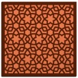 rug #911777   square red-orange borders rug