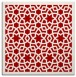 rug #911813 | square red borders rug