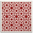 rug #911821 | square red borders rug
