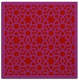 rug #911825 | square red borders rug