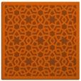 rug #911837 | square red-orange borders rug