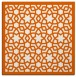 rug #911841 | square red-orange borders rug
