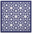 rug #911853 | square blue borders rug