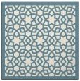 rug #911861 | square blue-green borders rug