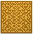 rug #911885 | square light-orange borders rug