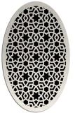 rug #911929 | oval white rug