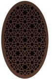 rug #911941   oval black borders rug