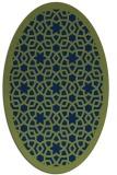 rug #911969 | oval blue borders rug
