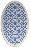 rug #911973 | oval blue borders rug