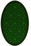 rug #911985   oval green rug