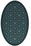 rug #912001 | oval blue-green rug